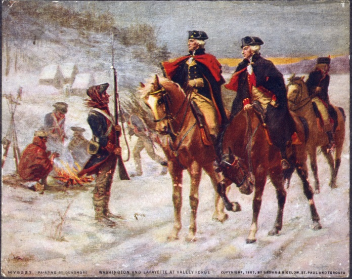 Washington with troops
